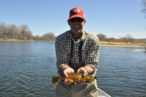 April fly fishing on the bighorn river with the arnold for Bighorn river fishing report