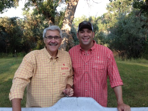 Stuart and Dan styling in our New Orvis Eagle Nest Lodge Shirts!