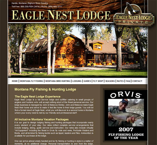 Eagle Nest Lodge New Website
