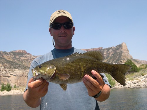 Sam with a Small Mouth Bass