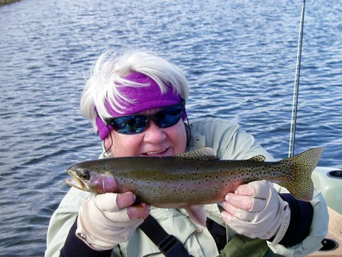 Susie with a gorgeous rainbow.